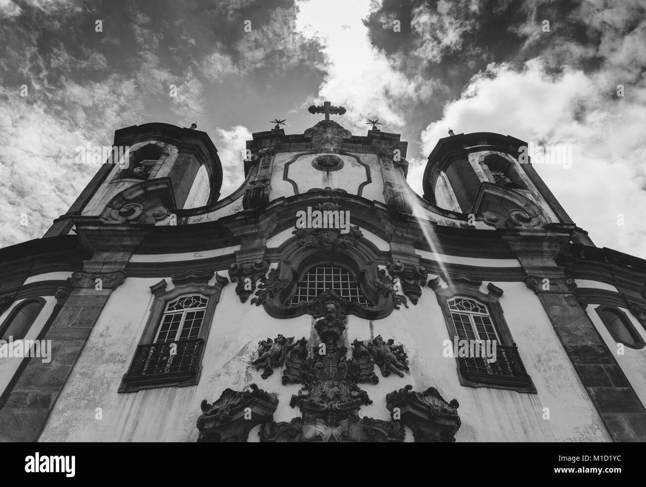 Historic church in Ouro Preto, Minas Gerais, Brazil - Stock Image