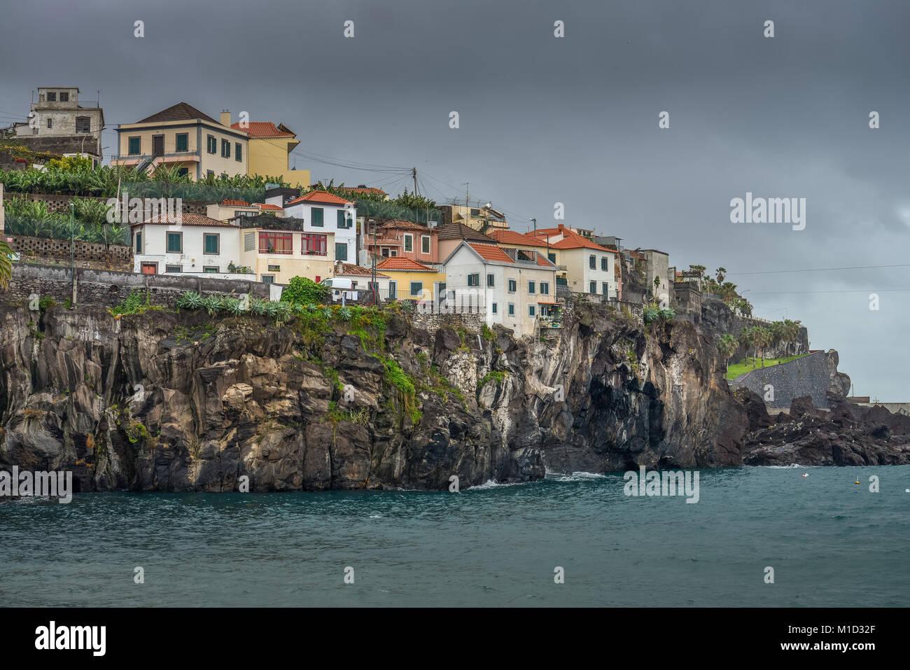 Steep coast, Camara de Lobos, Madeira, Portugal, Steilküste Stock Photo