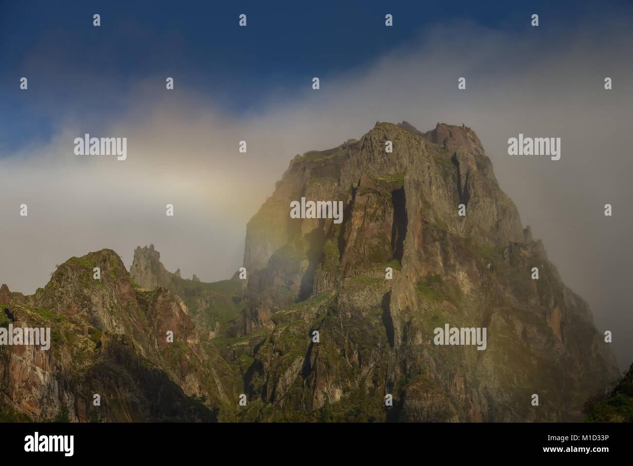 Pico Das Torres, Central Mountains, Madeira, Portugal, Pico das Torres, Zentralgebirge - Stock Image