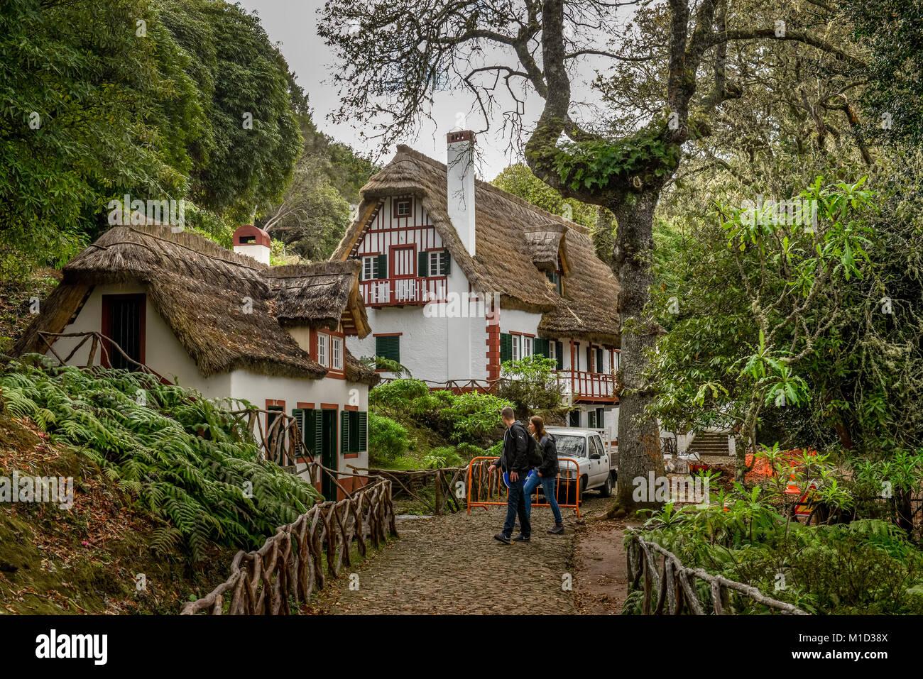 Forester's house QUEIMADAS, Central Mountains, Madeira, Portugal, Forsthaus, Queimadas, Zentralgebirge - Stock Image