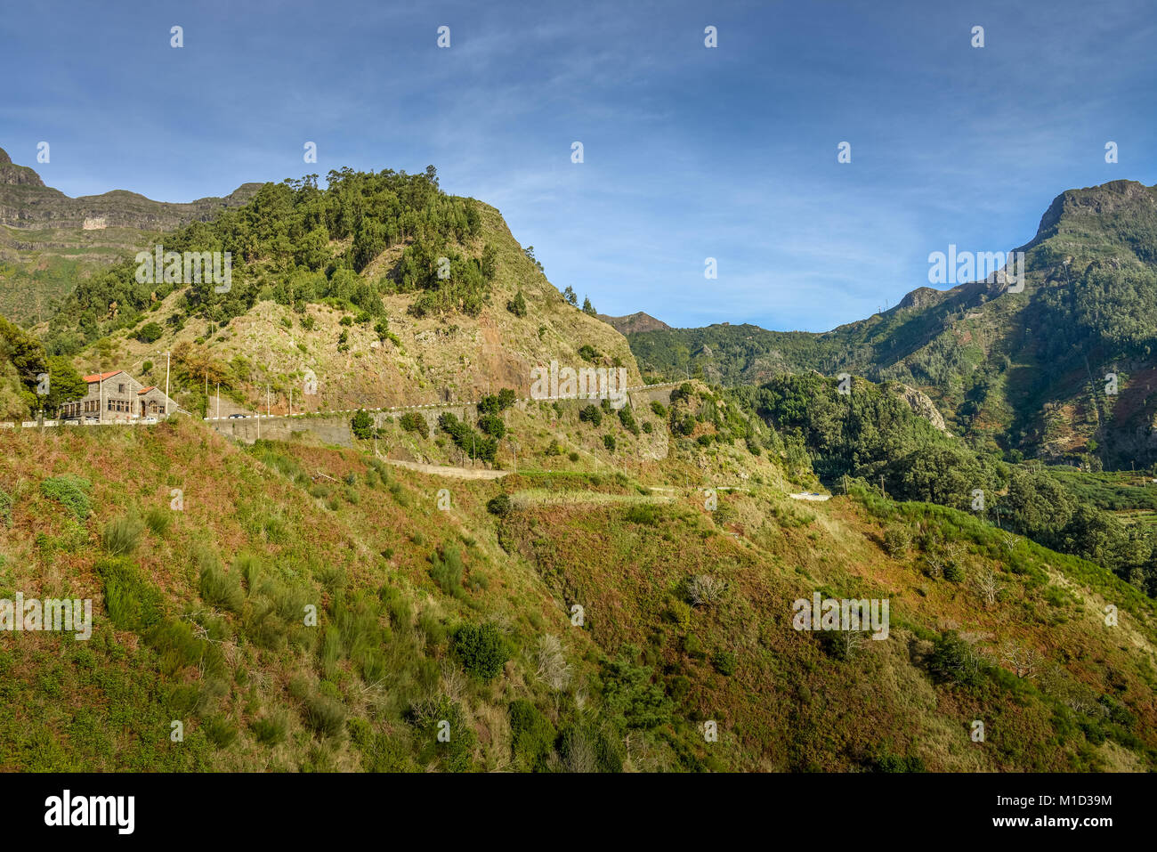 Pass Road, Encuemada, Central Mountains, Madeira, Portugal, Passstrasse, Zentralgebirge - Stock Image