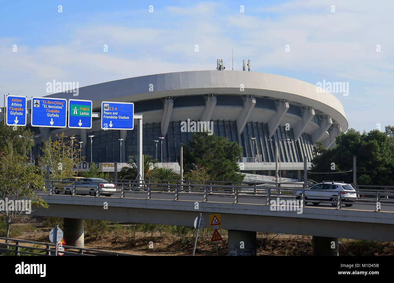 Stadtautobahn, Peace and Friendship Stadium, Athen, Griechenland - Stock Image