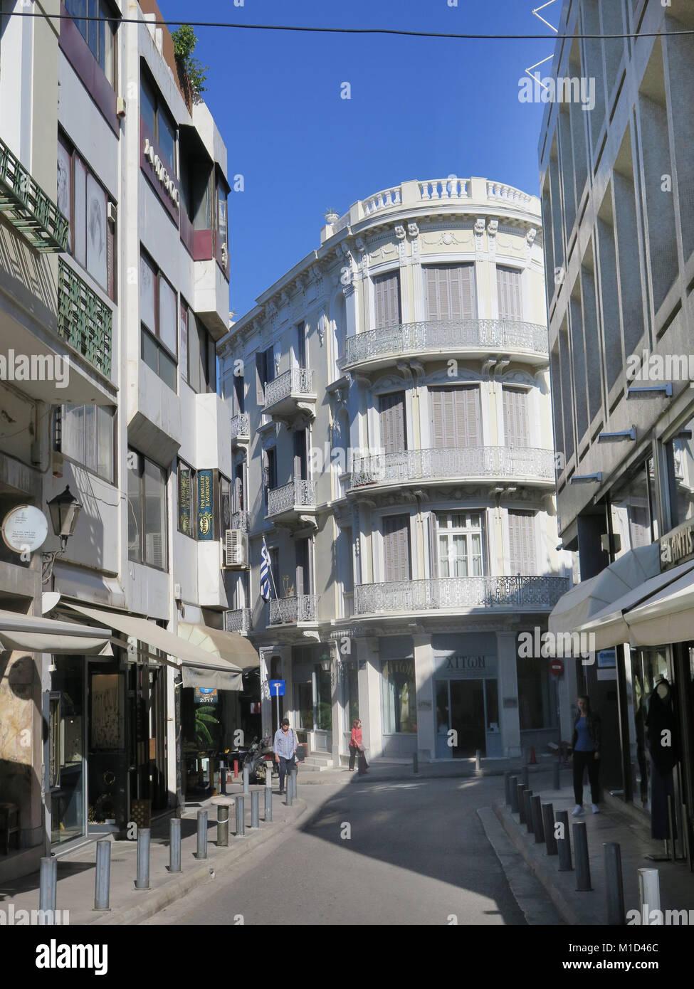 Gasse, Altstadt, Bezirk Plaka, Athen, Griechenland - Stock Image