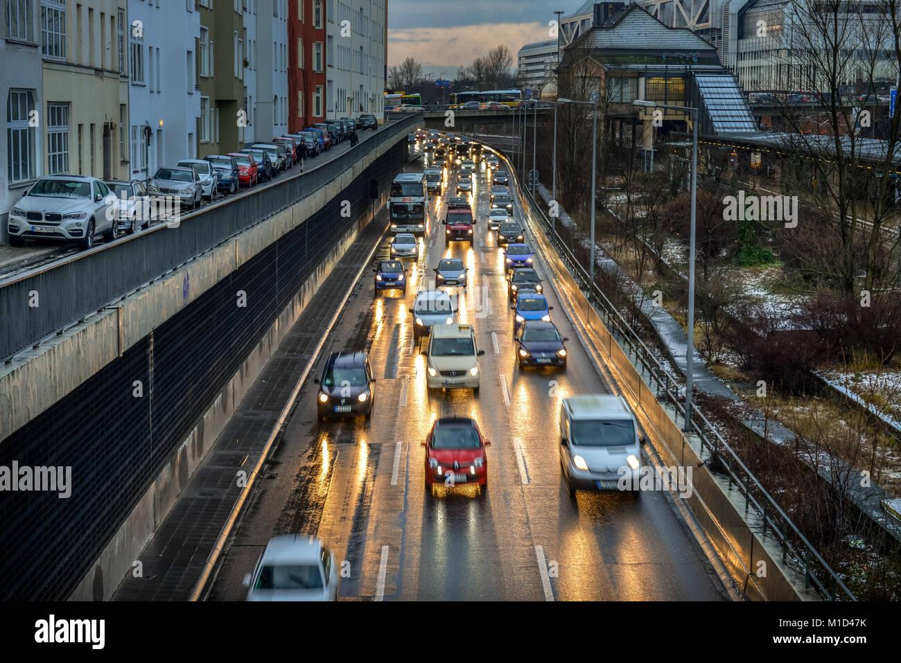 The city highway, Charlottenburg, Berlin Germany, Stadtautobahn, Berlin Deutschland - Stock Image