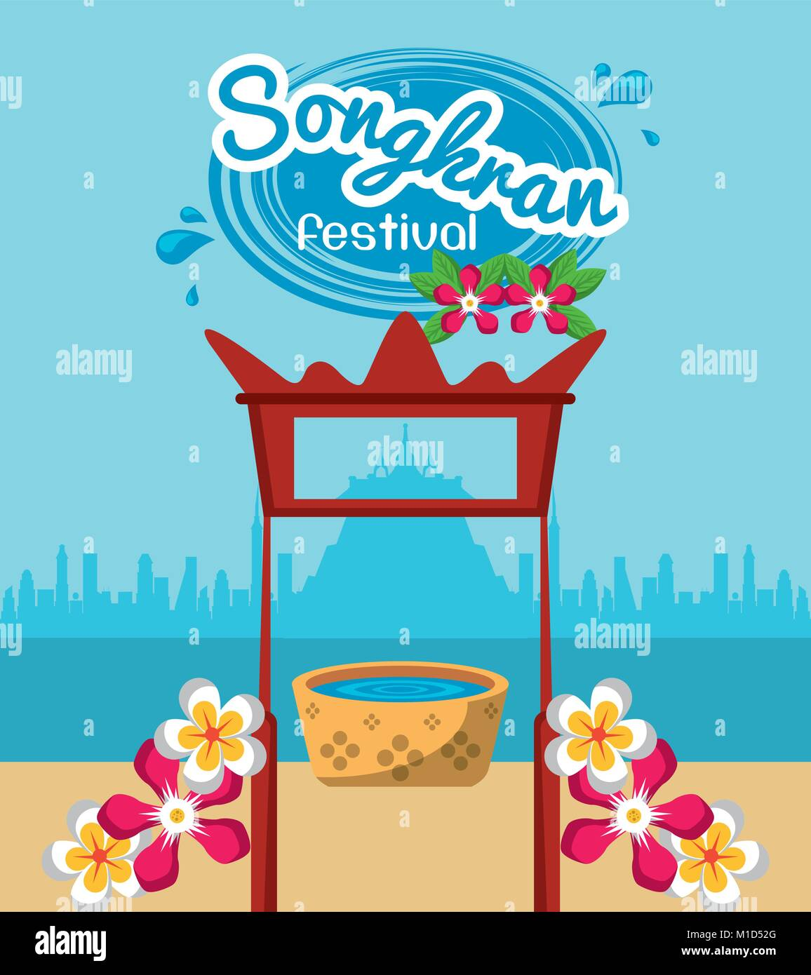 Songkran festival design - Stock Vector
