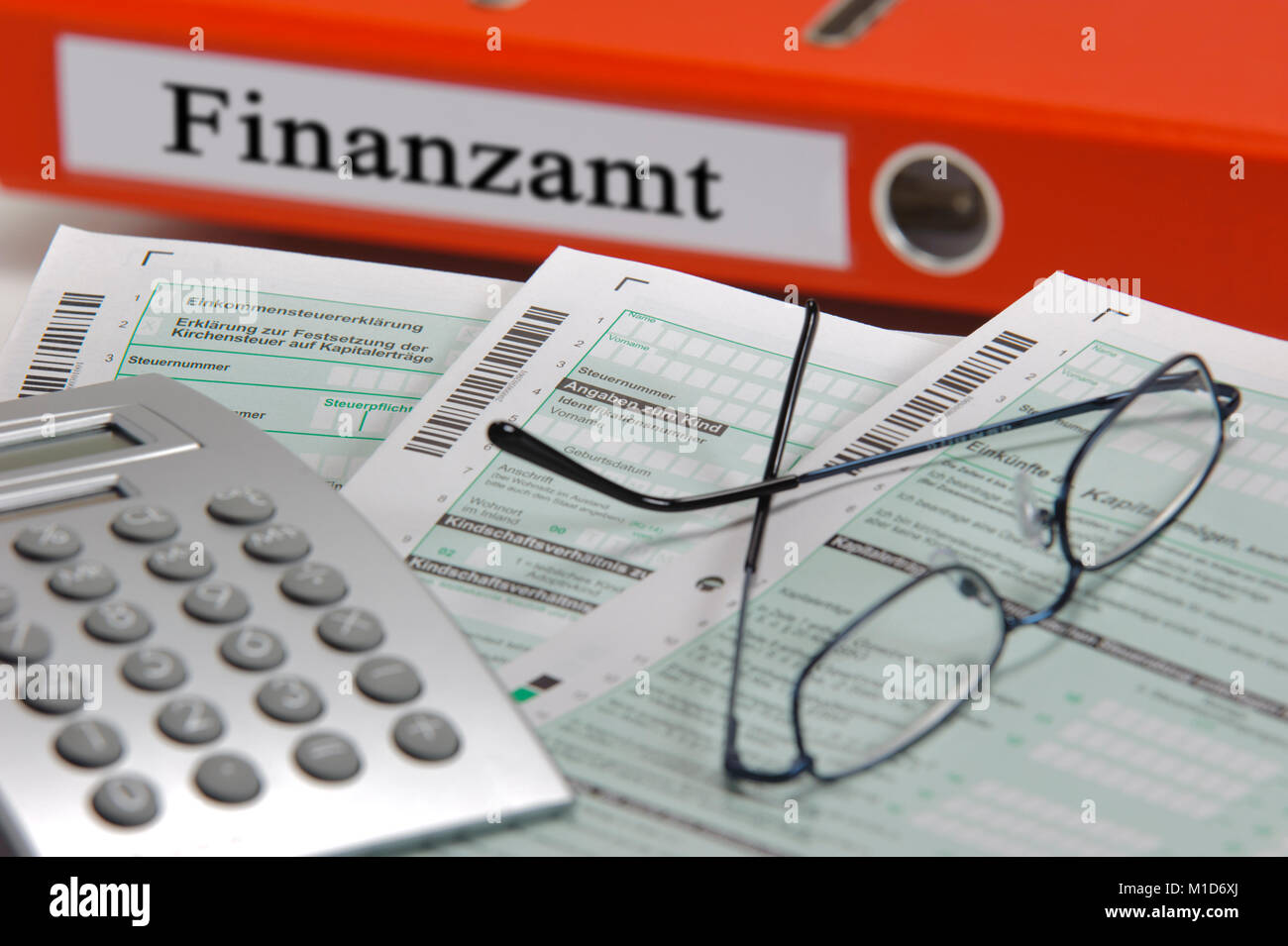 Steuererklärung für Finanzamt - Stock Image