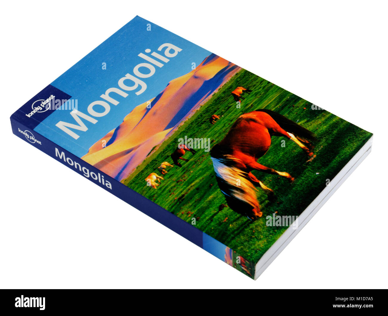The Lonely Planet guide to Mongolia - Stock Image