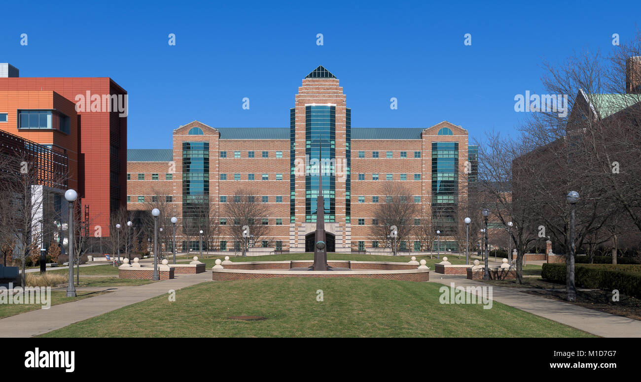 Beckman Institute for Advanced Science and Technology on the campus of the University of Illinois at Urbana-Champaign - Stock Image