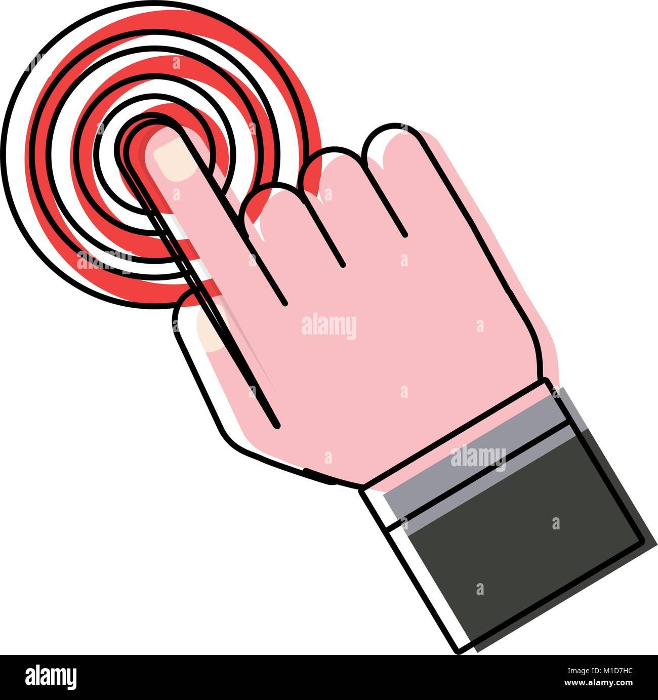 Hand vector illustration - Stock Image