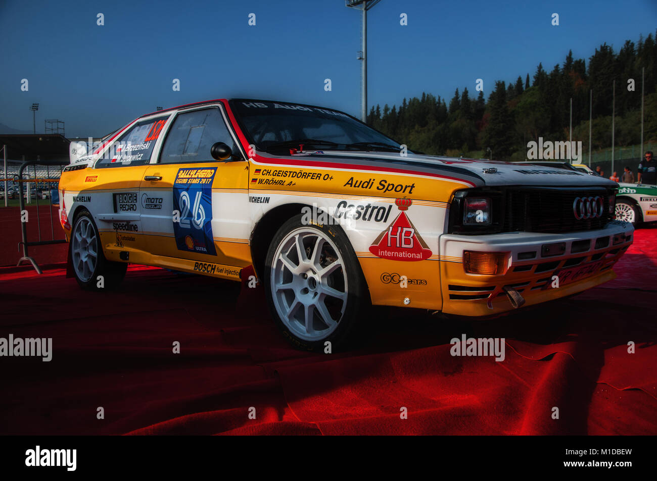 classic audi quattro rally car stock photos classic audi. Black Bedroom Furniture Sets. Home Design Ideas