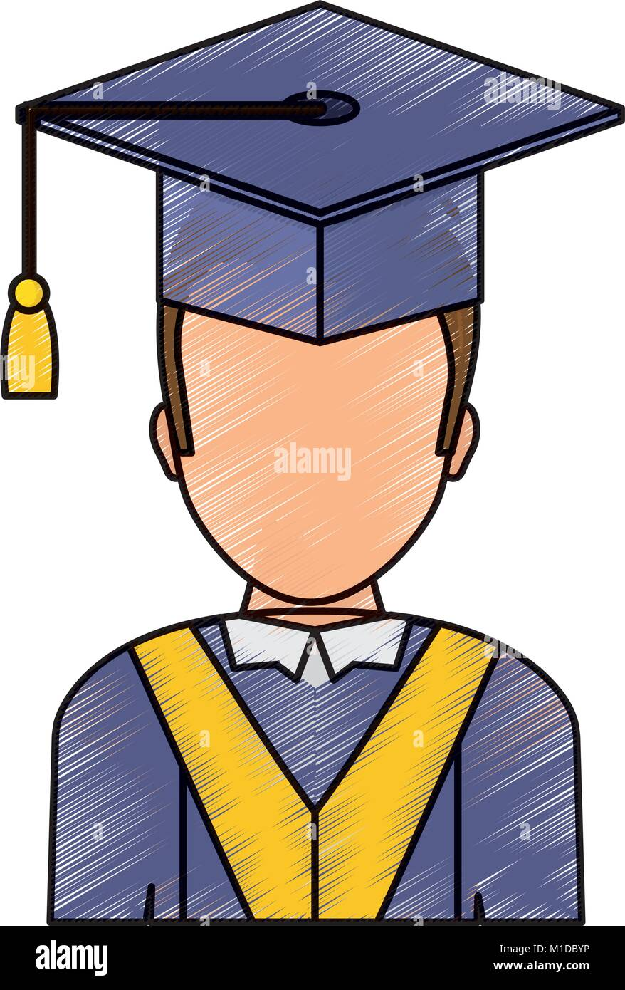 Cartoon Graduate Man Graduation Gown Stock Photos & Cartoon Graduate ...