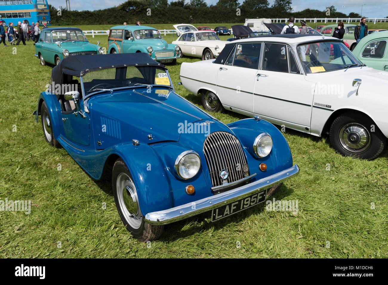 vintage morgan sports car - Stock Image