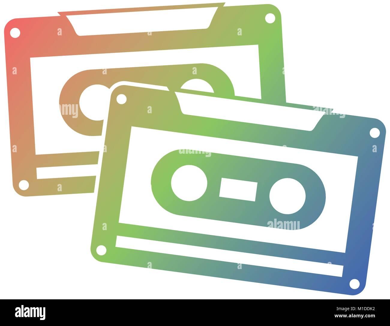 cassettes recorder tape music vintage - Stock Image