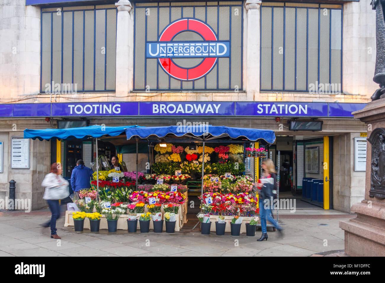 Tooting Broadway tube station, London, England, United Kingdom, UK - Stock Image