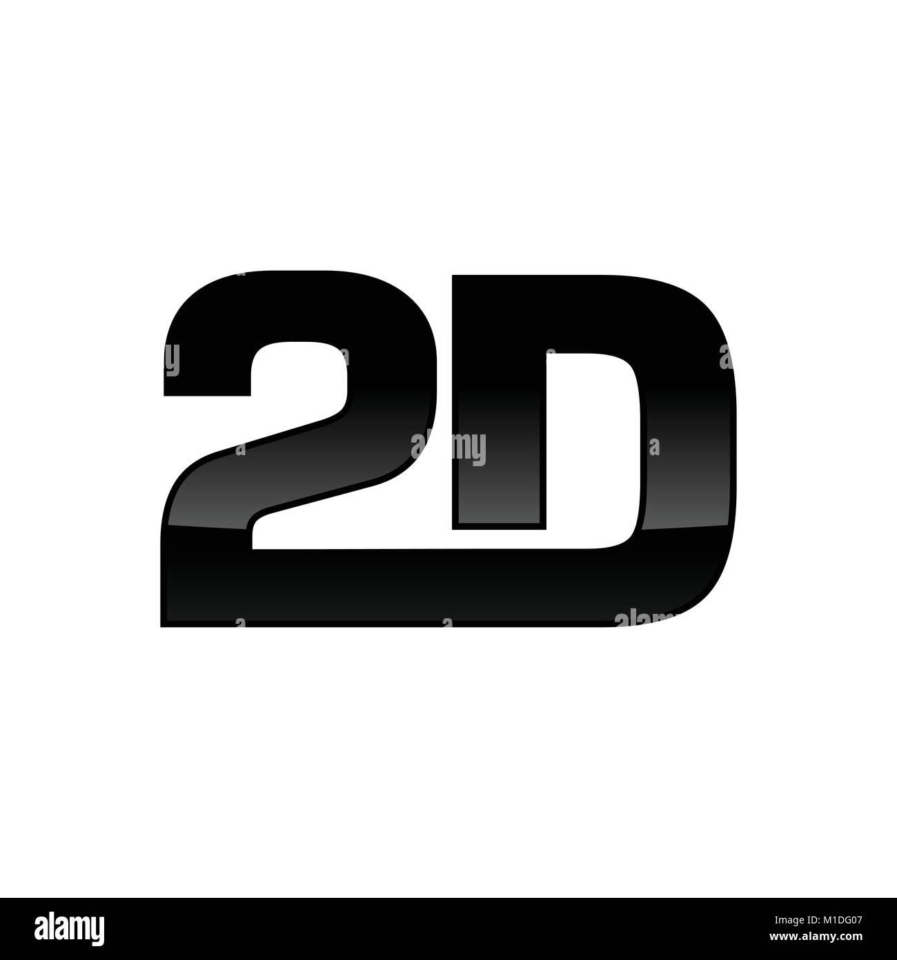 Isolated 2D Custom Logotype Vector Graphic Design - Stock Image