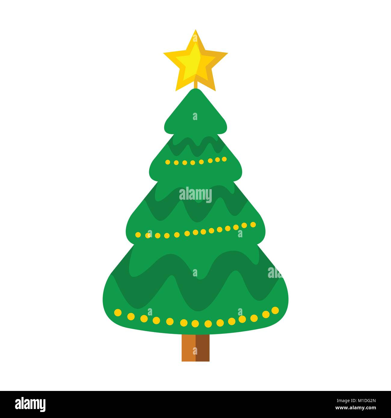 Christmas Tree Illustration.Cartoon Christmas Tree Vector Graphic Illustration Sign