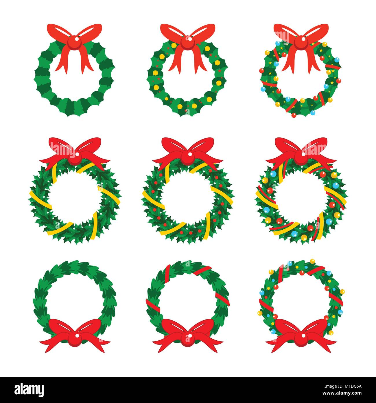 Christmas Garlands Icon Vector Graphic Illustration Sign Symbol