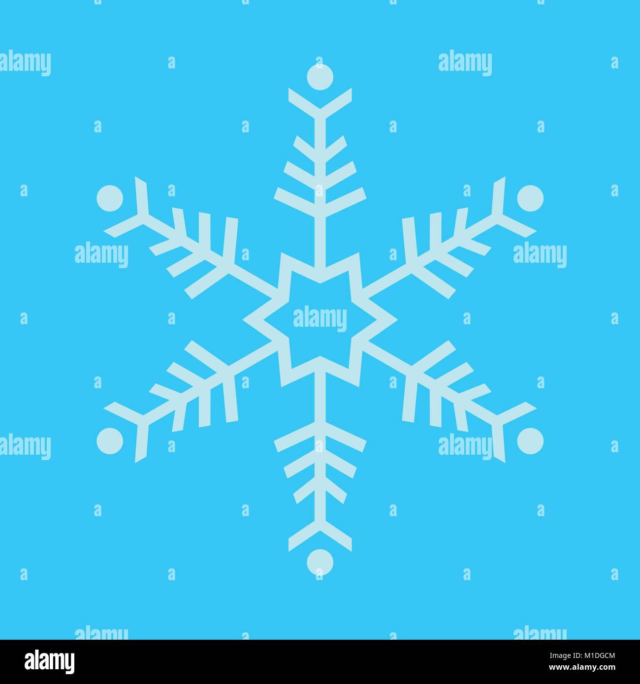 Simple Snowflake Vector Graphic Illustration Sign Symbol Design - Stock Image