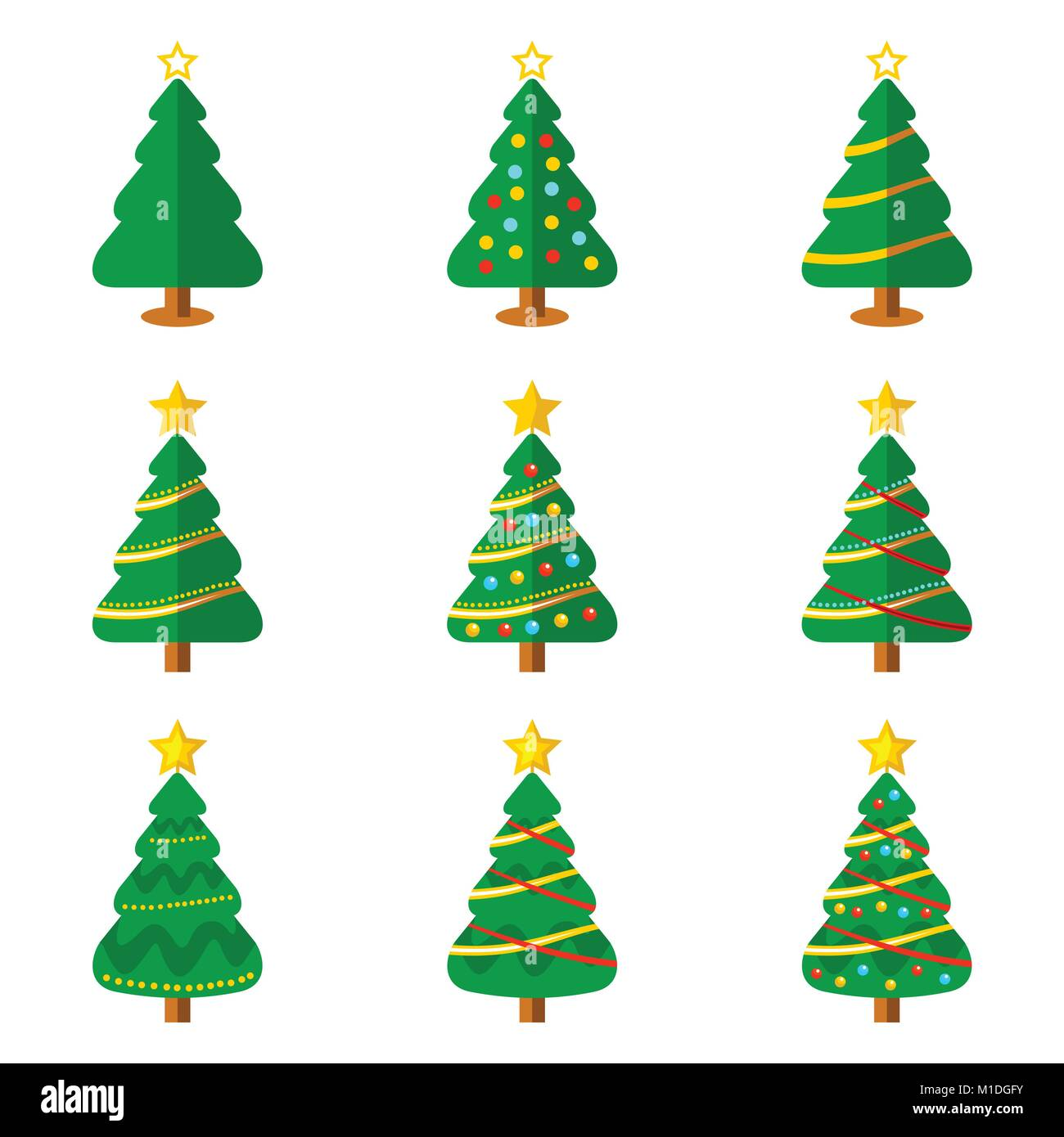 Christmas Tree Illustration.Christmas Tree Flat Icon Vector Graphic Illustration Sign