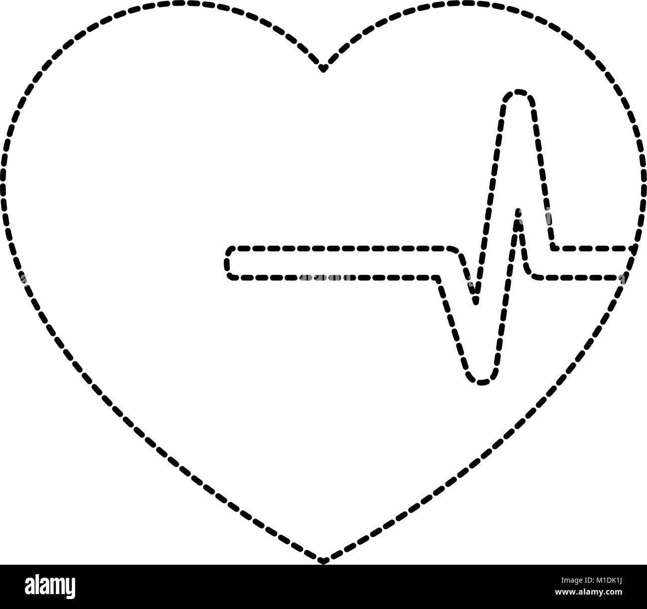 ekg flat black and white stock photos images alamy EKG Heart Diagram Art heart cardio isolated icon vector illustration design stock image
