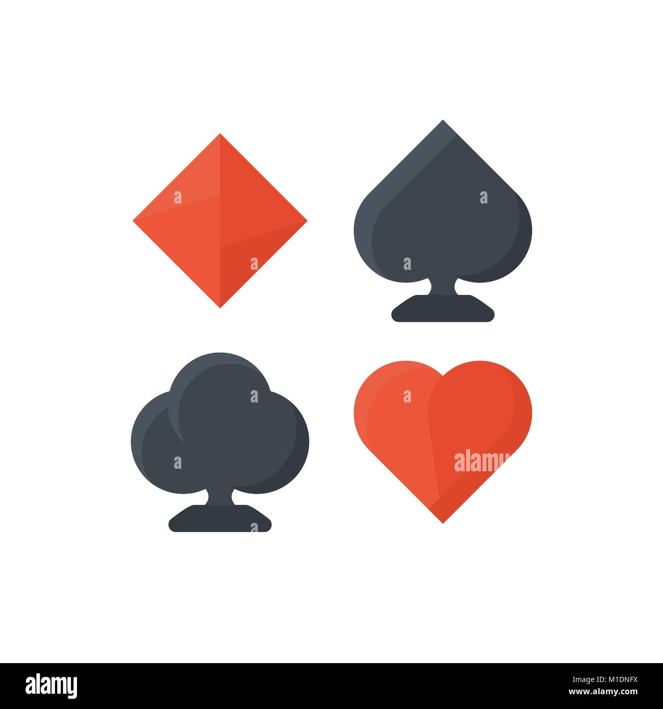 Set Of Playing Cards Symbols Stock Vector Art Illustration Vector