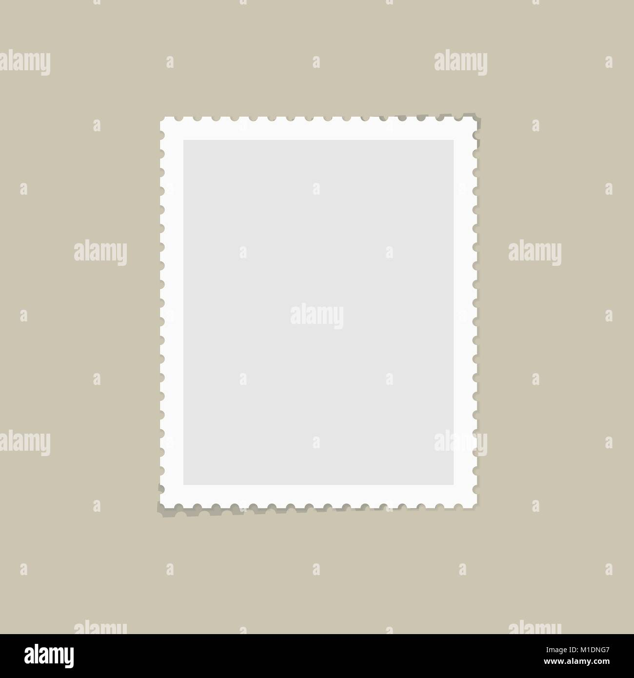Postage stamp for postcard - Stock Vector