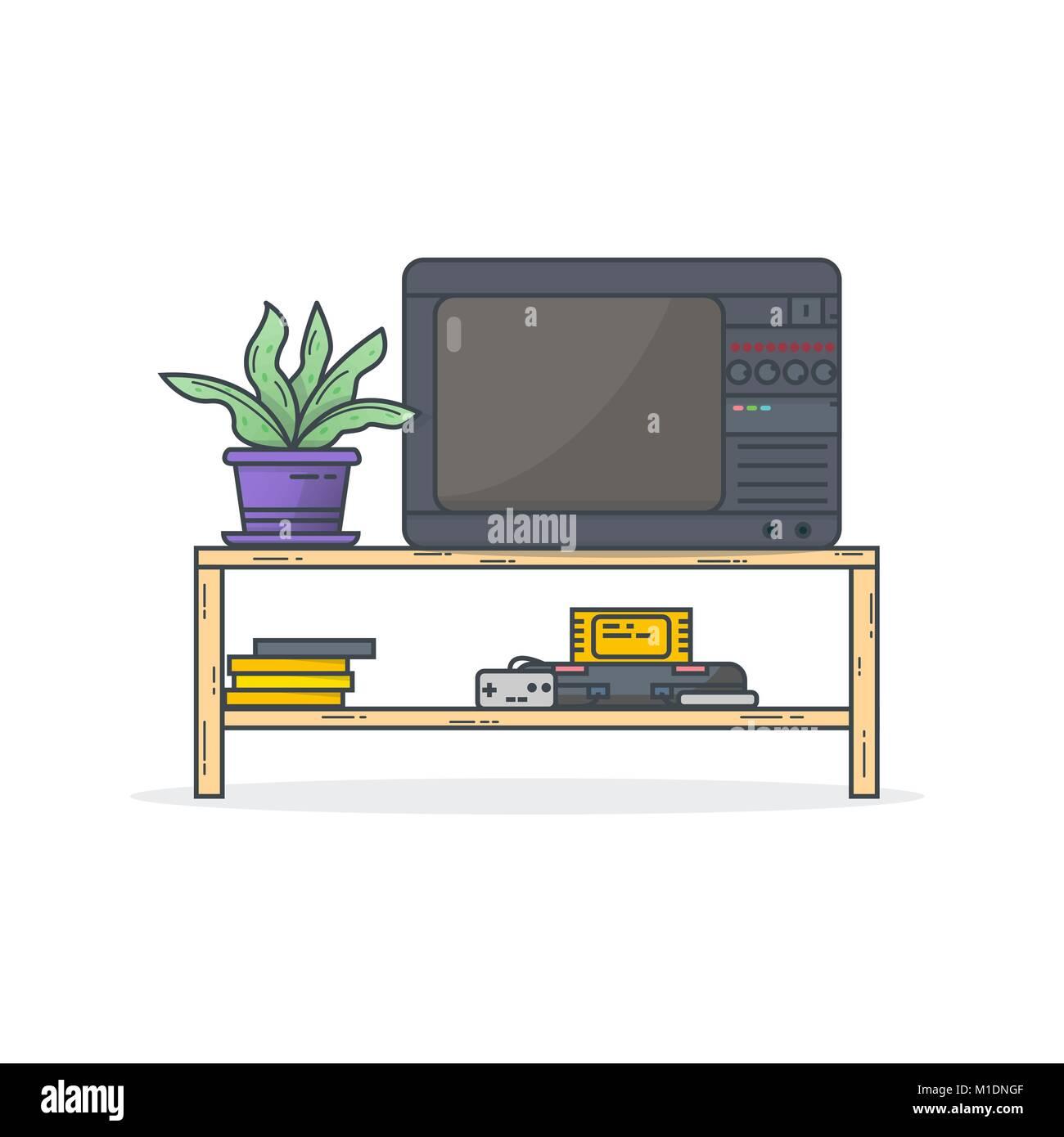 Retro console games - Stock Vector