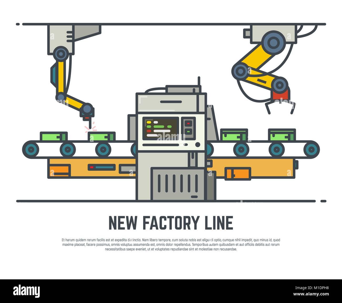 Factory belt line - Stock Image