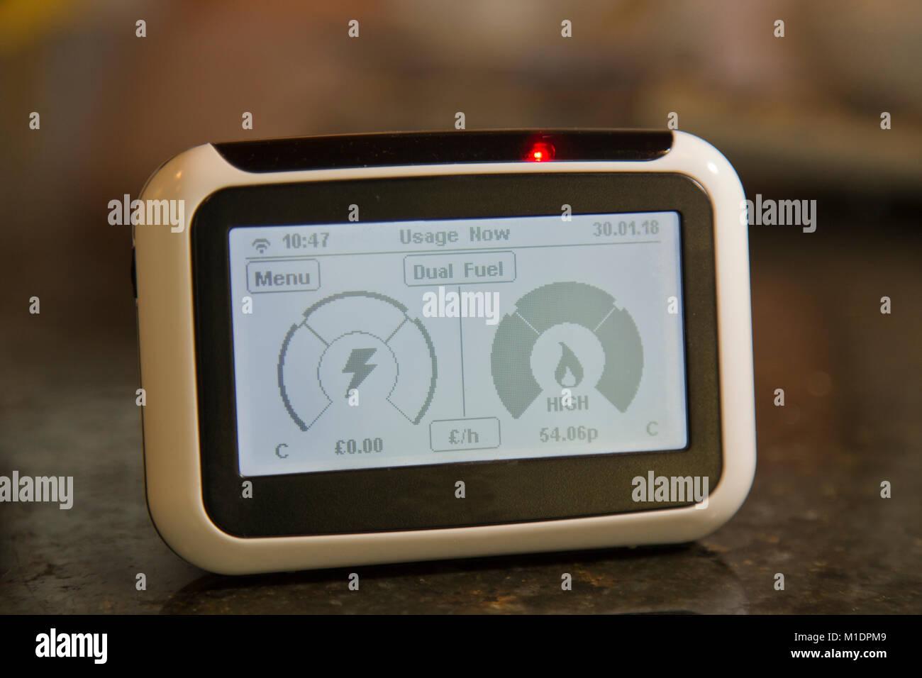 Smart Meter monitor - Stock Image