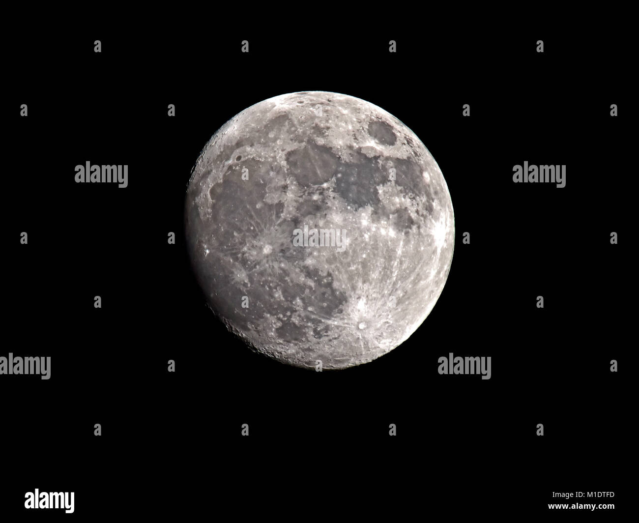 Full moon on a winters night - Stock Image