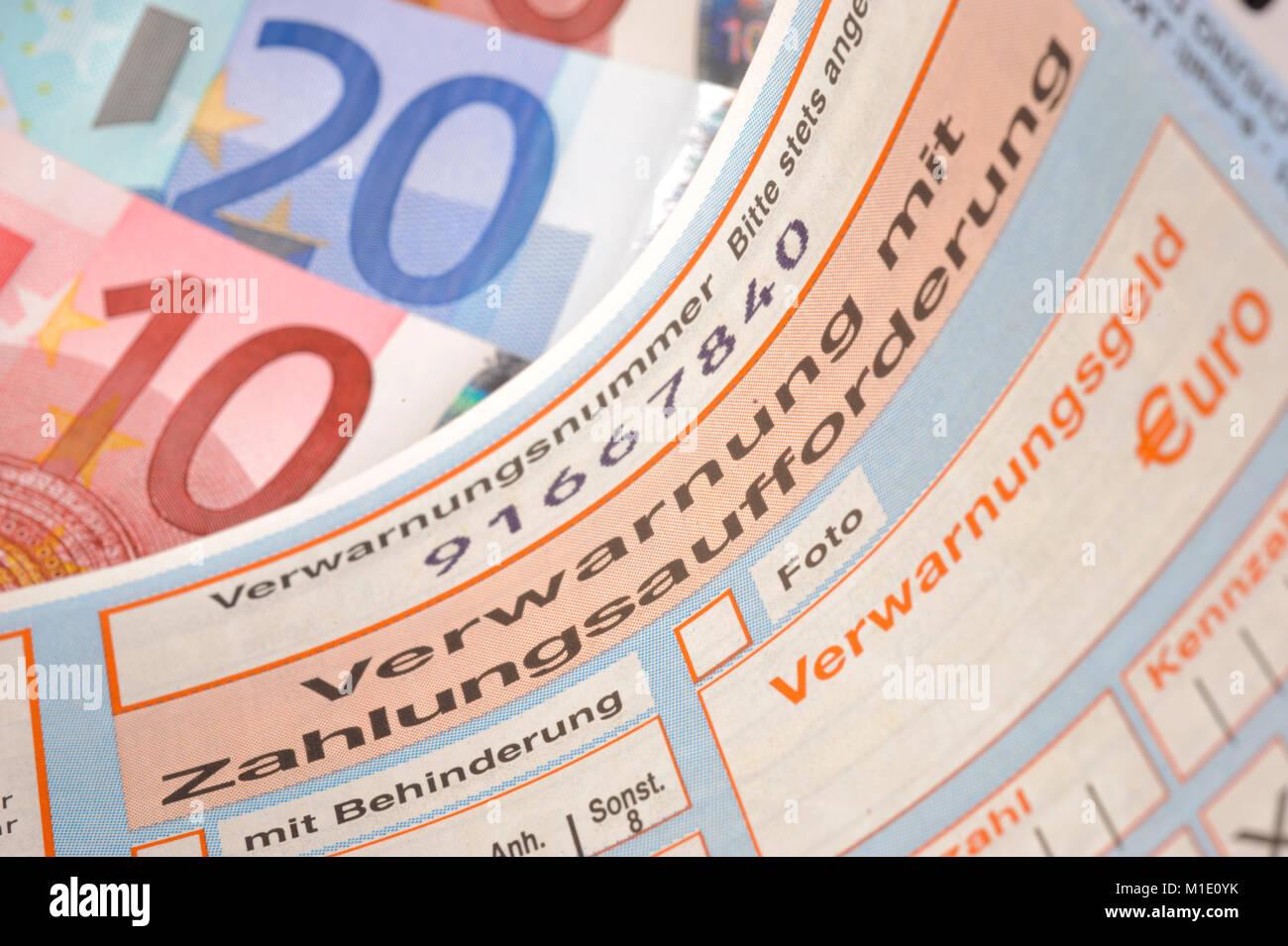 Strafzettel - Stock Image