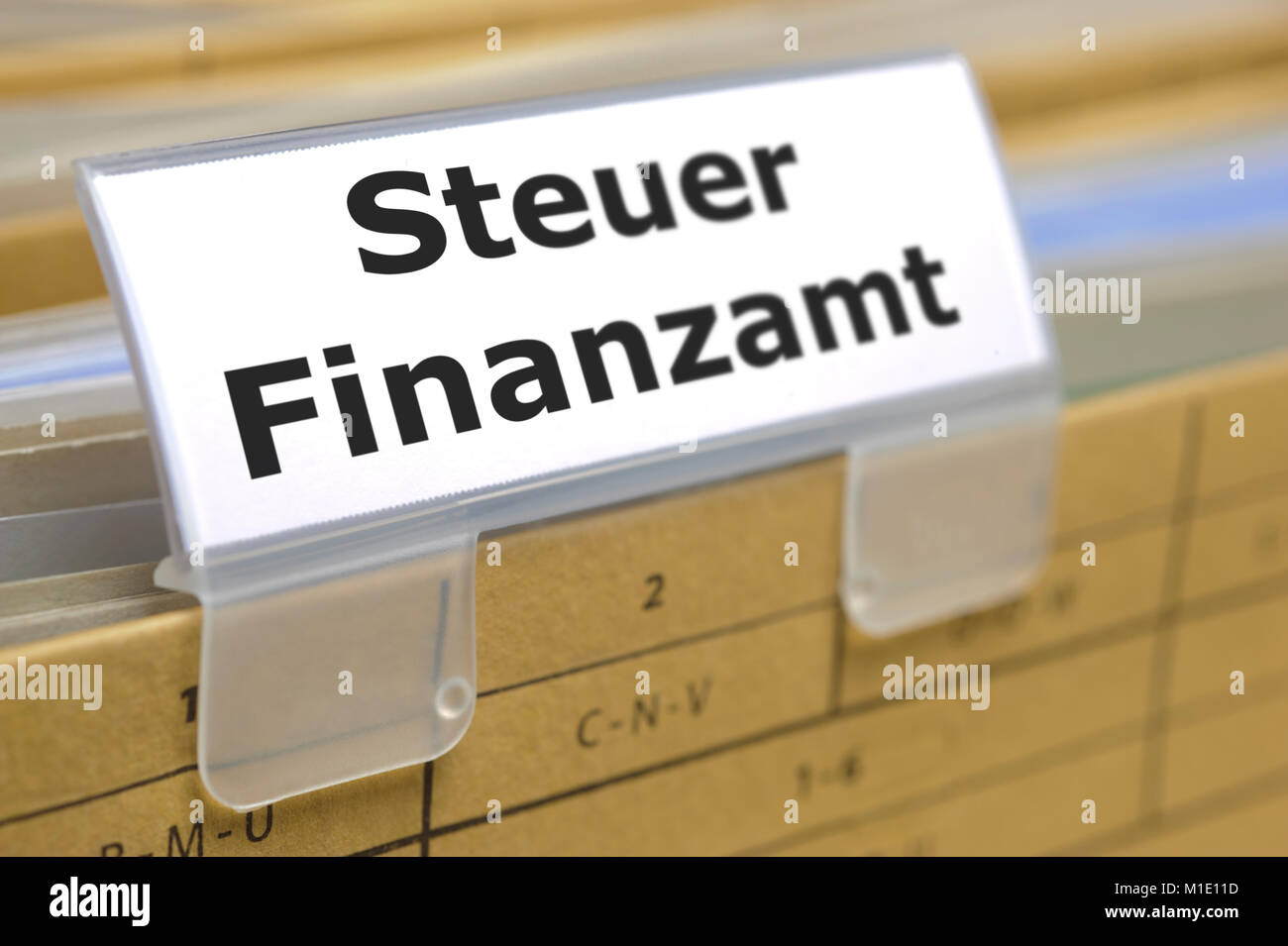 Hängeordner mit Reiter Steuer Finanzamt Stock Photo