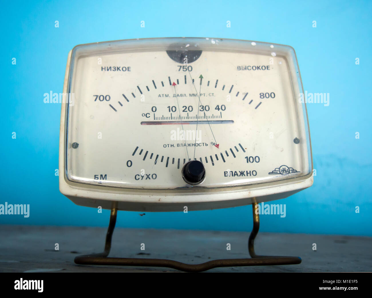 Former apparatus for measuring temperature, pressure and humidity - Stock Image