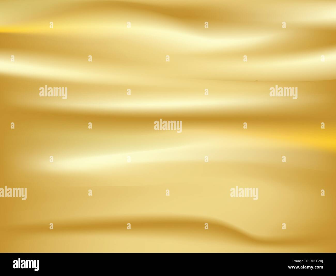 Abstract gold. background Vector gold cloth Fabric Textile Drape with Crease Wavy Folds.with soft waves and Gold - Stock Vector