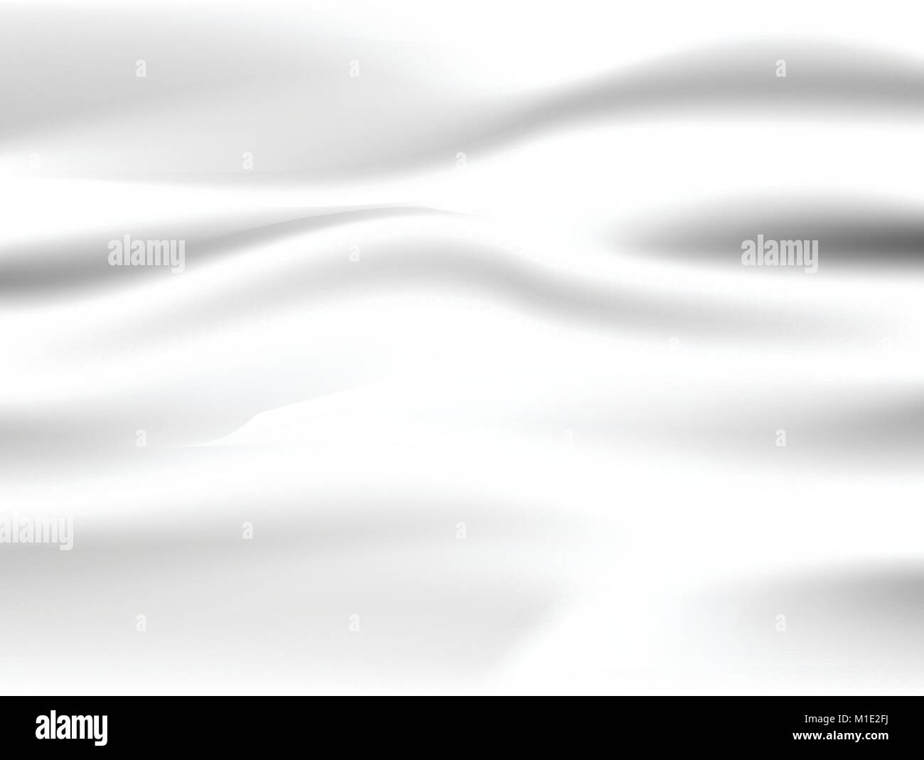Abstract white background Vector White Satin Silky Cloth Fabric Textile Drape with Crease Wavy Folds. with soft - Stock Vector