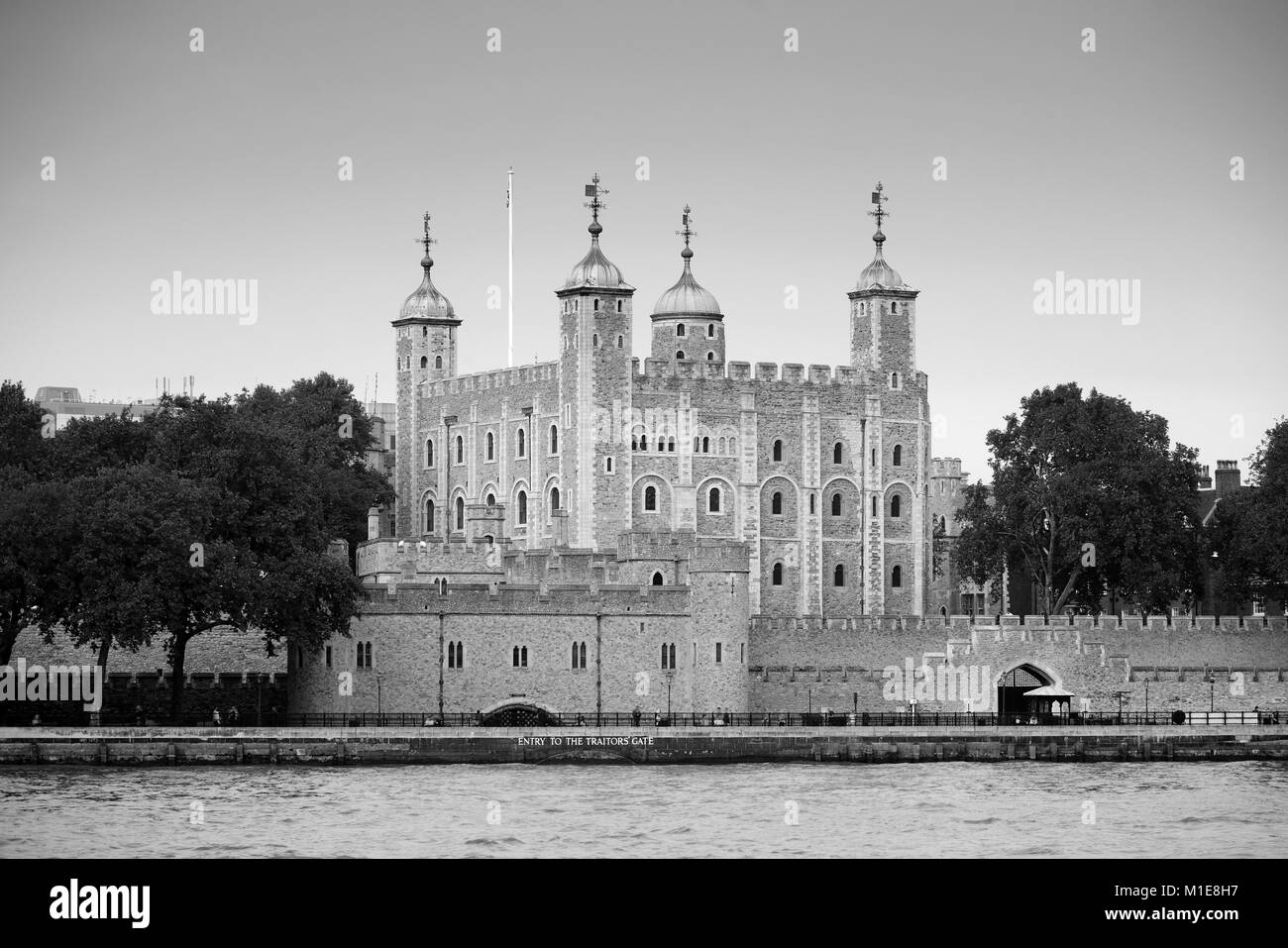Historical building London Tower as the famous landmark in UK - Stock Image