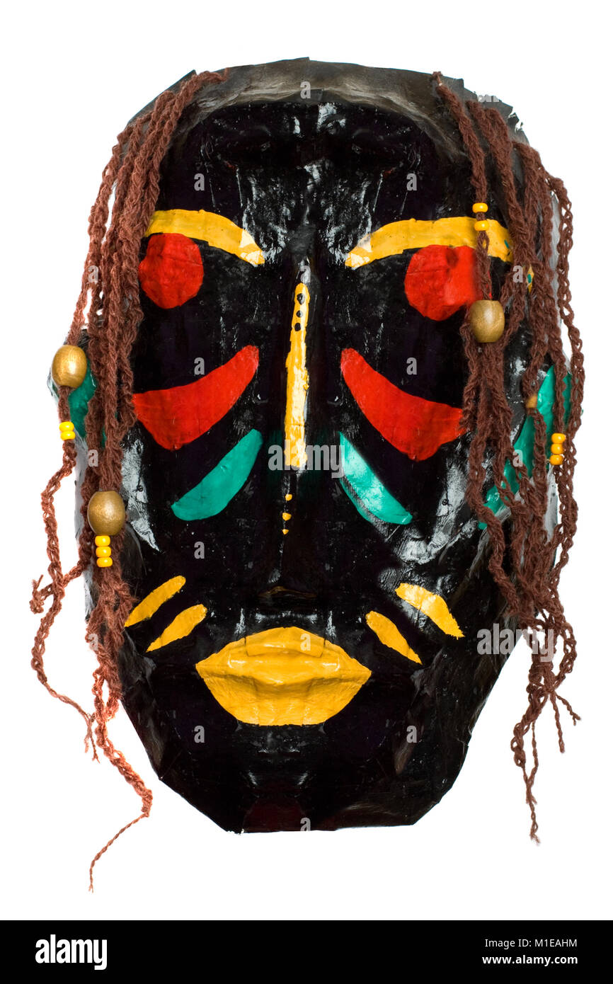 African tribal mask - primitive art - Stock Image