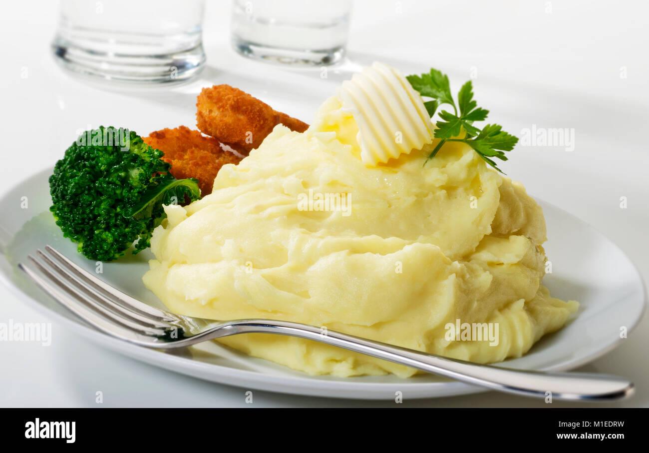 Mashed Potatoes - Stock Image