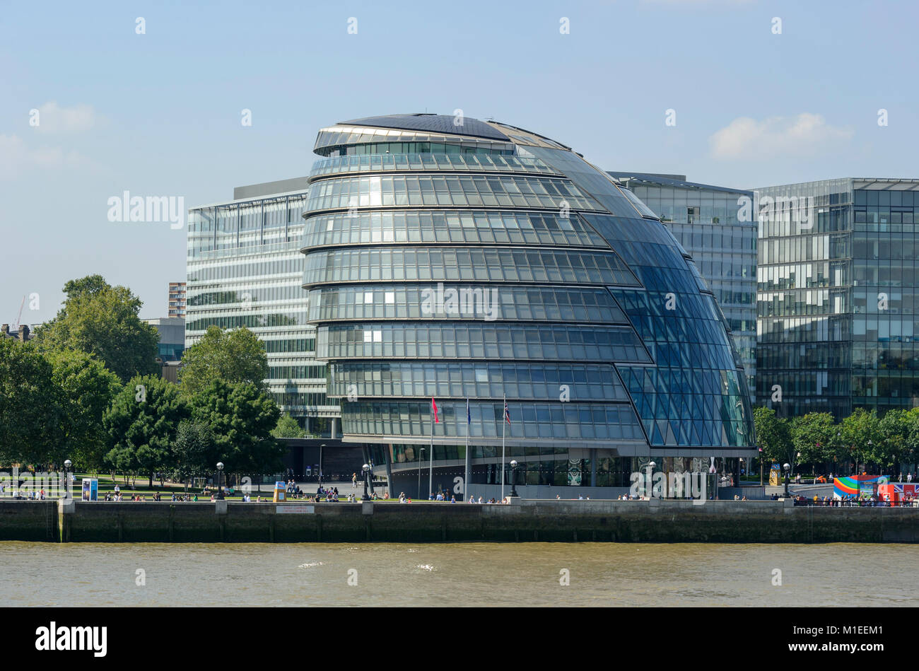 City Hall, London is the headquarters of the Greater London Authority which houses the Mayor of London and the London - Stock Image