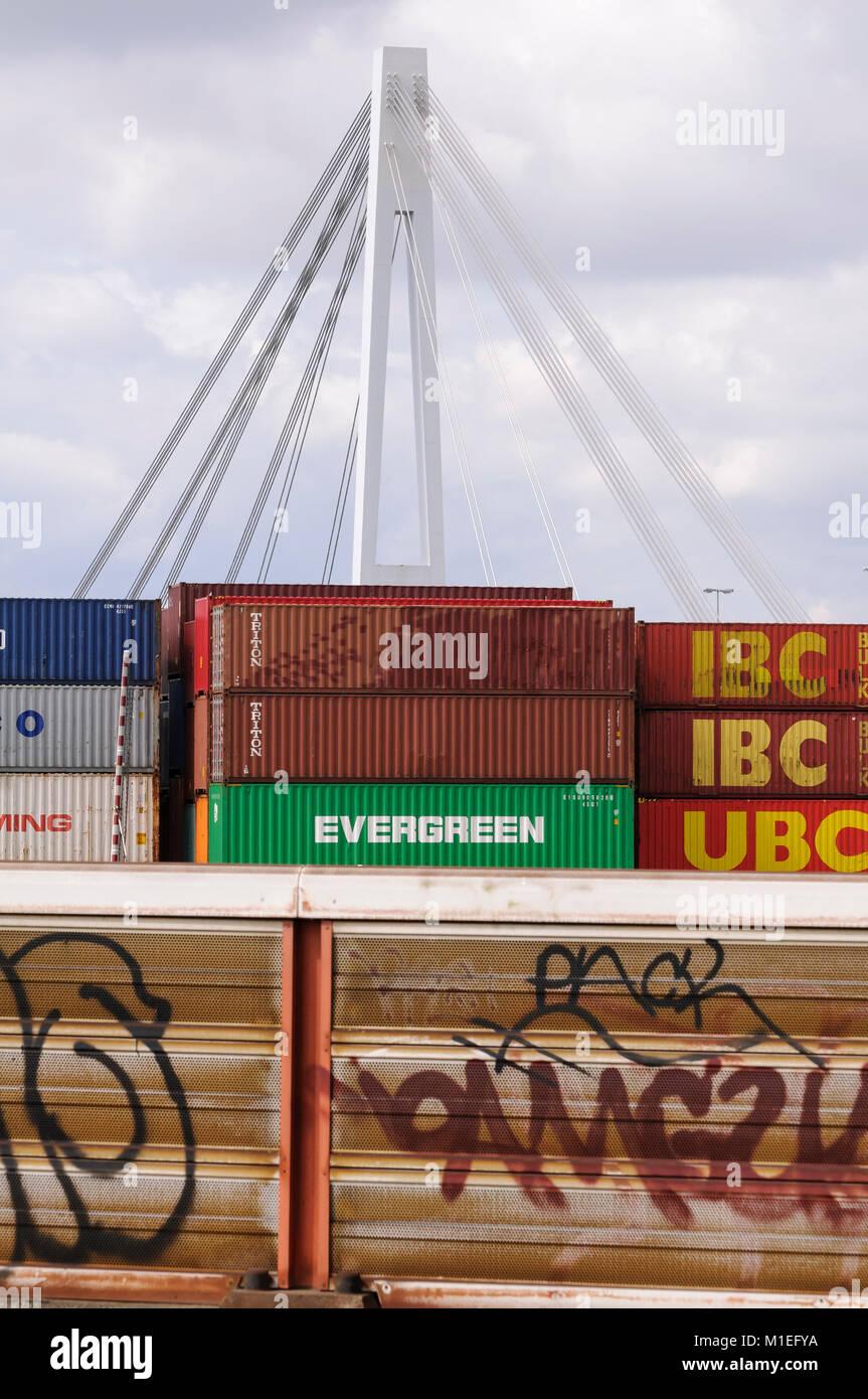 Mannheim, Containerhafen - Stock Image