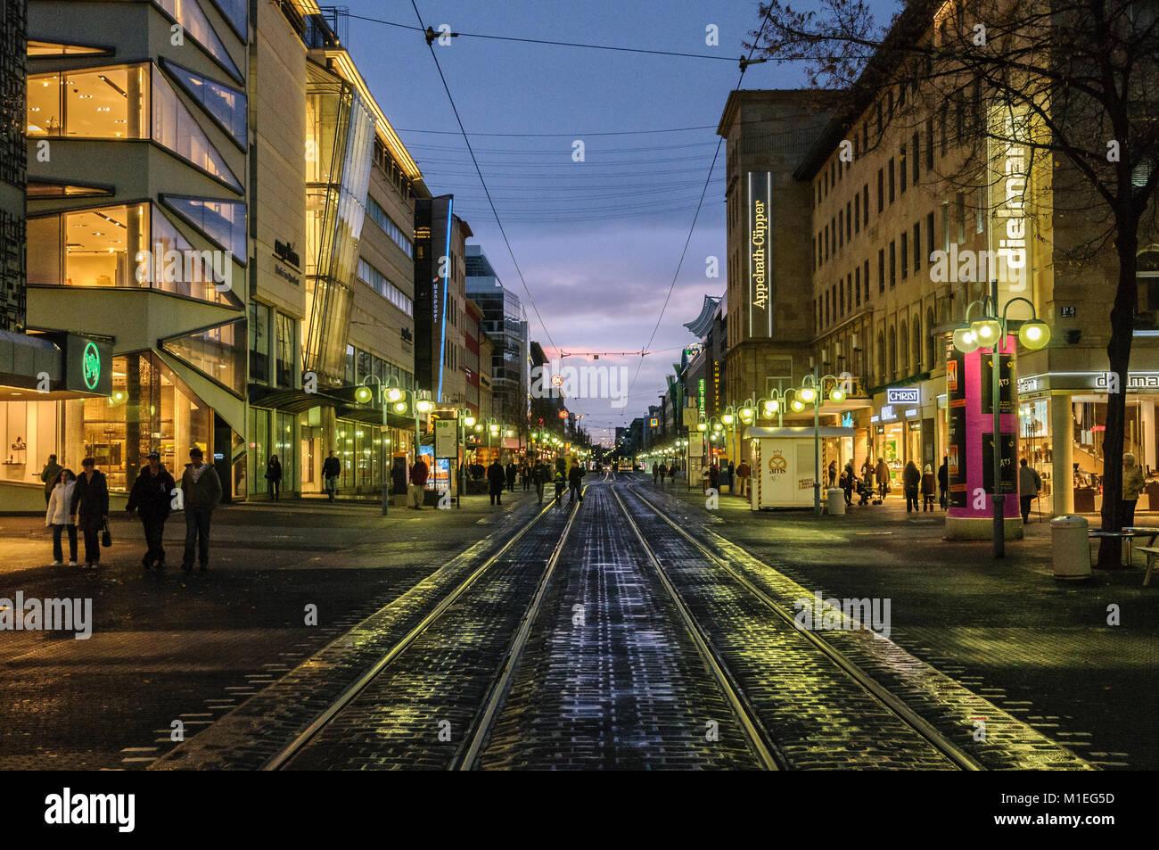 Mannheim, Einkaufsstrasse Planken - Stock Image