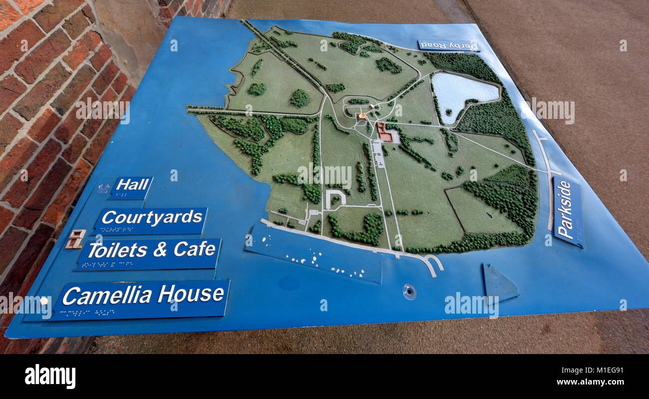 3 dimensional map of Wollaton Park Nottingham England UK Stock Photo