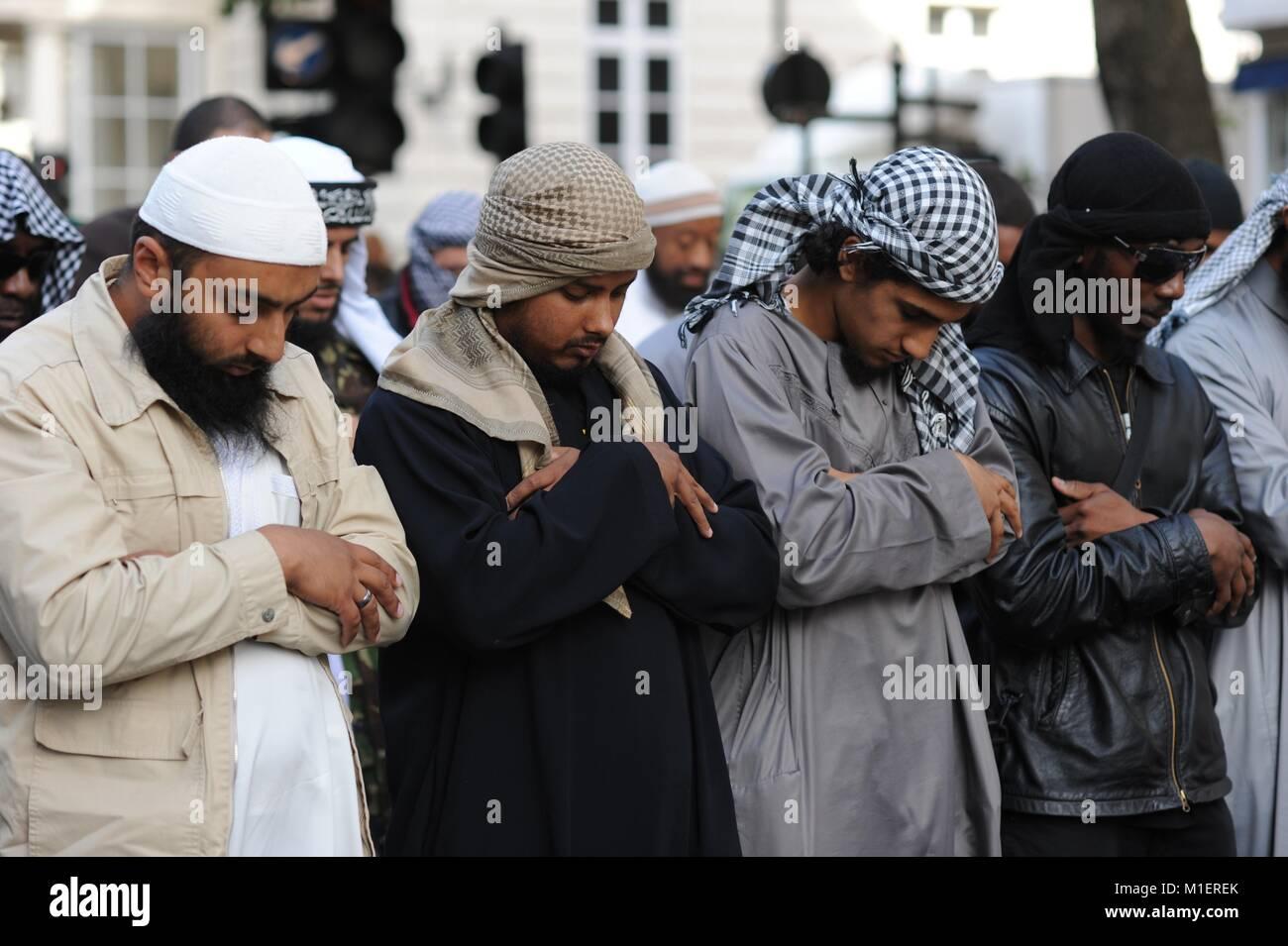 Muslim Protestors - Stock Image