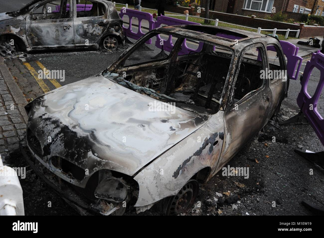 London Riots, the aftermath - Stock Image