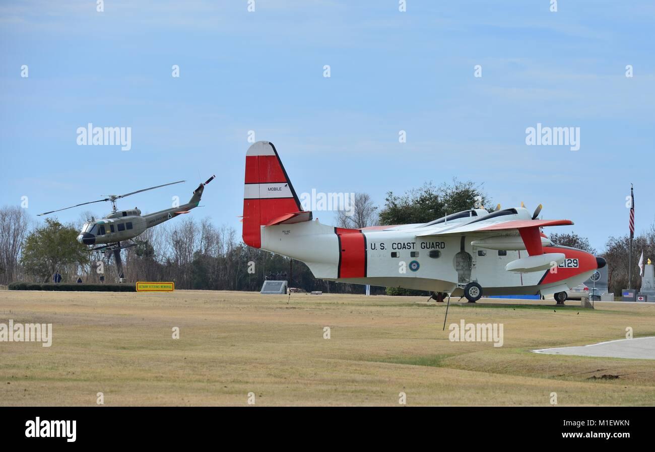 American Coast guard sea plane Stock Photo