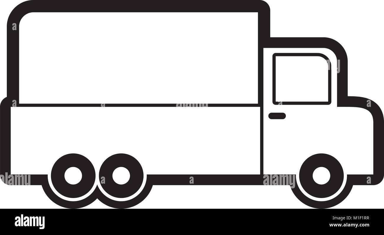 cargo truck design Stock Vector