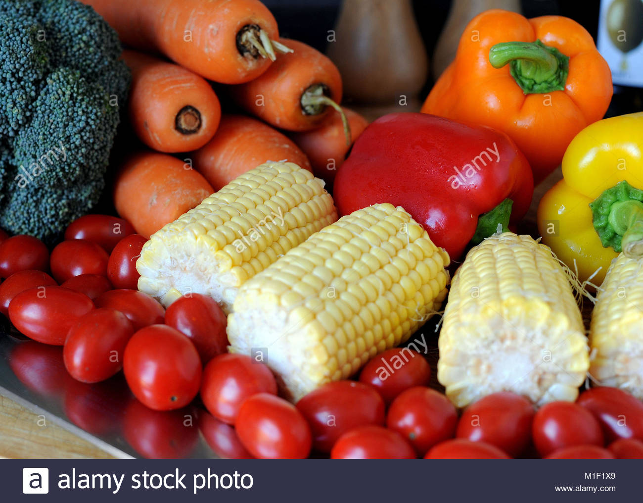 File photo dated 20/07/14 of vegetables, as a new study has suggested that a Mediterranean diet could help women - Stock Image