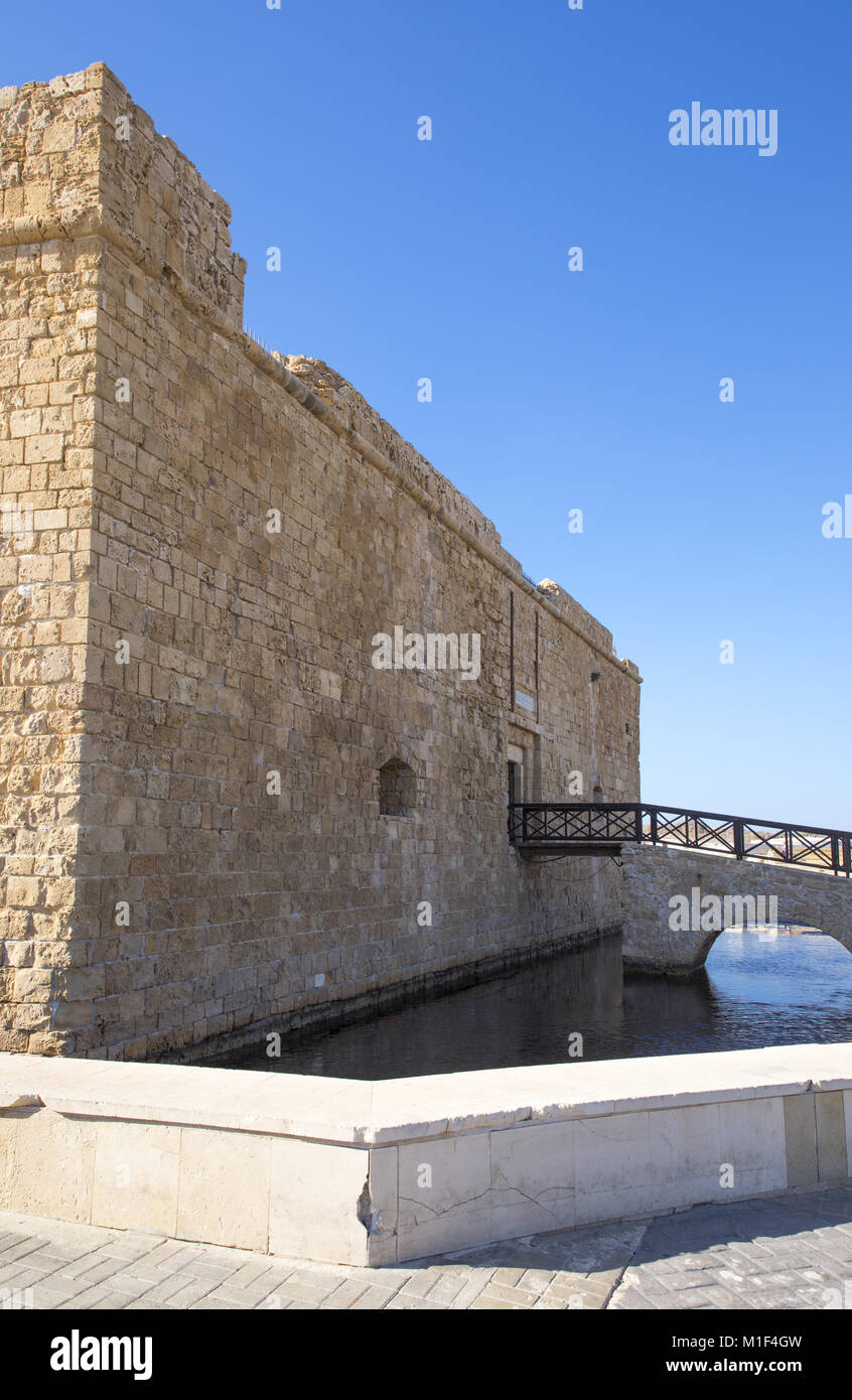 Pafos, Greece, Cyprus island, view of the Fort in the marina area Stock Photo