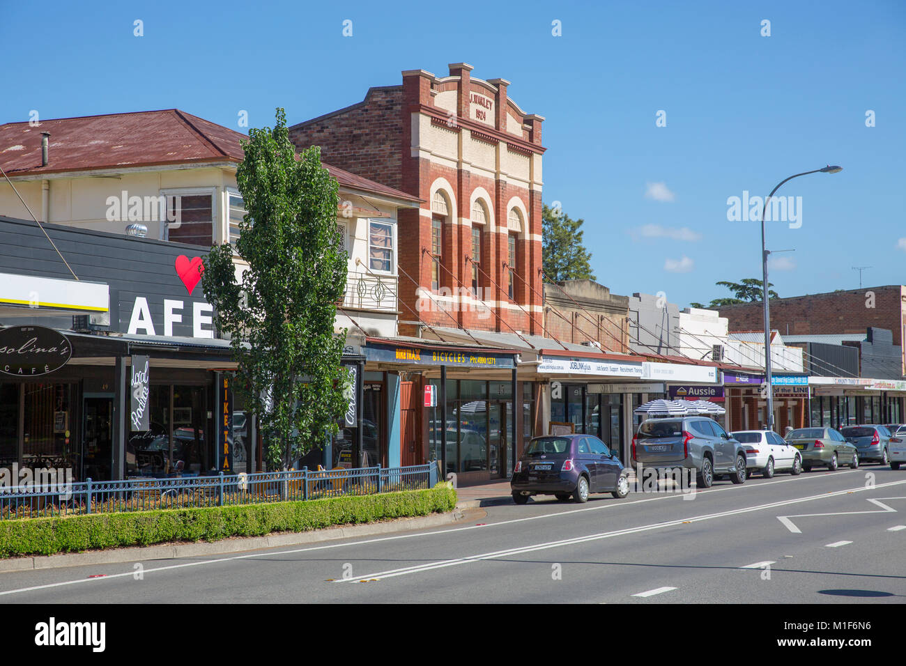 Town centre in Cessnock,Cessnock is a city in the Hunter region of New South Wales,Australia Stock Photo