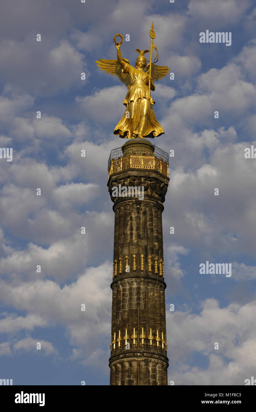 Germany. Berlin Victory Column. Designed by the German architect Heinrich Strack (1805-1880), after 1864. It commemorates - Stock Image
